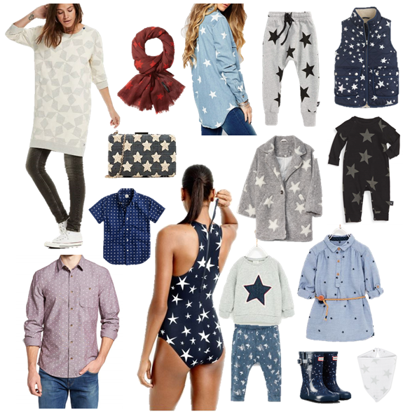 Star Print Fashion for the Whole Family