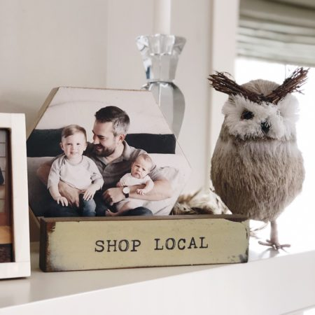 Shop Local Sign by Cedar Mountain Studios